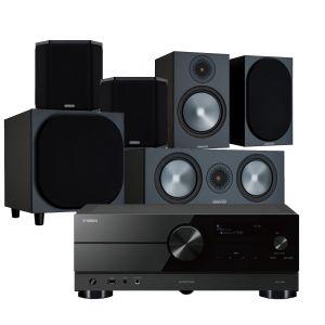 Yamaha RX-A2A AV Receiver with Monitor Audio Bronze 100 AV Speaker Pack
