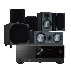 Yamaha RX-A2A AV Receiver with Monitor Audio Bronze 50 AV Speaker Pack