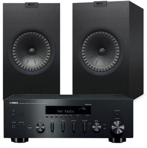 Yamaha R-N602 Amplifier with KEF Q350 Speakers