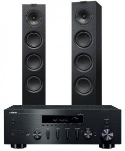 Yamaha R-N602 Amplifier with KEF Q550 Speakers