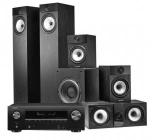 Denon AVR-X1600H AV Receiver with KEF Q150 AV Speaker Pack