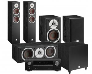 Denon AVR-X1600H AV Receiver with Dali Spektor 6 5.1 AV Speaker System with C-8 D Sub