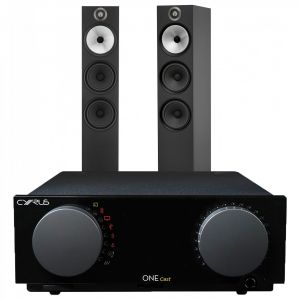Cyrus One Cast Amplifier with Bowers & Wilkins 603 Floorstanding Speakers