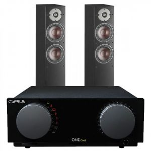 Cyrus One Cast Amplifier with Dali Oberon 5 Floorstanding Speakers