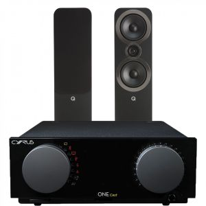 Cyrus One Cast Amplifier with Q Acoustics 3050i Floorstanding Speakers