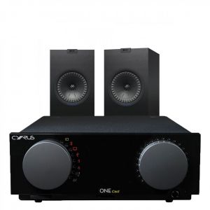 Cyrus One Cast Amplifier with KEF Q350 Bookshelf Speakers