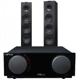 Cyrus One Cast Amplifier with KEF Q550 Floorstanding Speakers