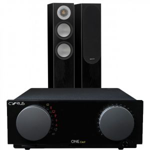 Cyrus One Cast Amplifier with Monitor Audio Silver 200 Floorstanding Speakers