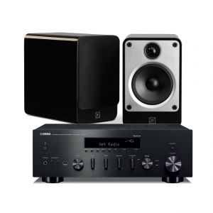 Yamaha R-N602 Amplifier with Q Acoustics Concept 20 Speakers