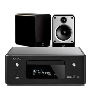 Denon CEOL N11DAB  Hi-Fi-Network CD Receiver with Q Acoustics Concept 20 Speakers