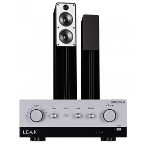 LEAK Stereo 130 Integrated Amplifier with Q Acoustics Concept 40 Floorstanding Speakers