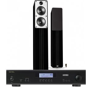 Rotel A11 Tribute Integrated Amplifier with Q Acoustics Concept 40 Floorstanding Speakers