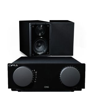 Cyrus One Integrated Amplifier with Cyrus One Linear Bookshelf Speakers