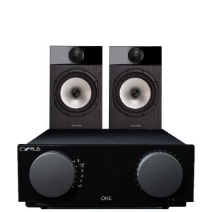 Cyrus One Integrated Amplifier with Fyne Audio F301 Bookshelf Speakers