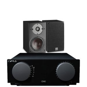 Cyrus One Integrated Amplifier with Dali Oberon 1 Bookshelf Speakers