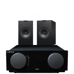 Cyrus One Integrated Amplifier with KEF Q150 Bookshelf Speakers