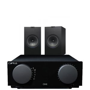 Cyrus One Integrated Amplifier with KEF Q350 Bookshelf Speakers