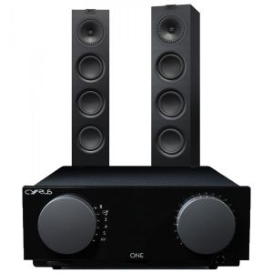 Cyrus One Integrated Amplifier with KEF Q550 Floorstanding Speakers