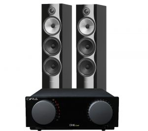 Cyrus One Cast Amplifier with Bowers & Wilkins 703 S2 Floorstanding Speakers