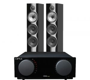 Cyrus One Cast Amplifier with Bowers & Wilkins 704 S2 Floorstanding Speakers