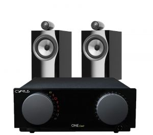 Cyrus One Cast Amplifier with Bowers & Wilkins 705 S2 Standmount Speakers