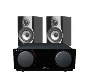 Cyrus One Cast Amplifier with Bowers & Wilkins 707 S2 Standmount Speakers