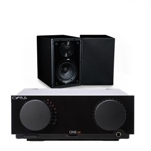 Cyrus One HD Integrated Amplifier with Cyrus One Linear Bookshelf Speakers