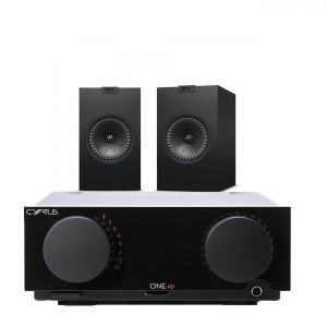 Cyrus One HD Integrated Amplifier with KEF Q150 Bookshelf Speakers