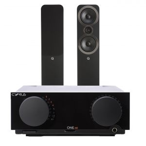 Cyrus One HD Integrated Amplifier with Q Acoustics 3050i Floorstanding Speakers