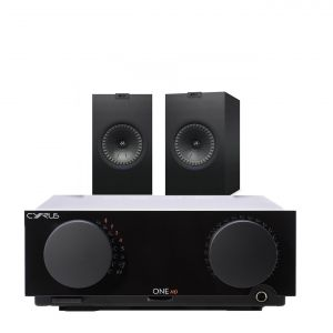 Cyrus One HD Integrated Amplifier with KEF Q350 Bookshelf Speakers