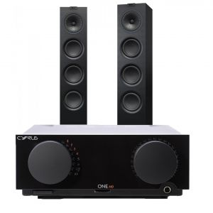 Cyrus One HD Integrated Amplifier with KEF Q550 Floorstanding Speakers