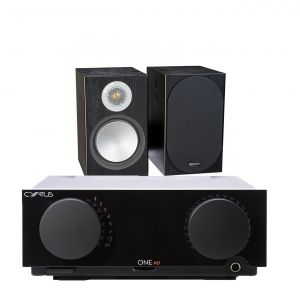 Cyrus One HD Integrated Amplifier with Monitor Audio Silver 100 Bookshelf Speakers