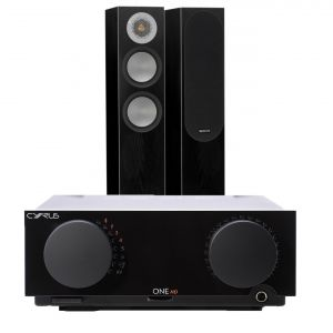 Cyrus One HD Integrated Amplifier with Monitor Audio Silver 200 Floorstanding Speakers