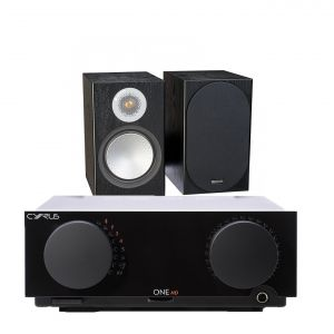 Cyrus One HD Integrated Amplifier with Monitor Audio Silver 50 Bookshelf Speakers