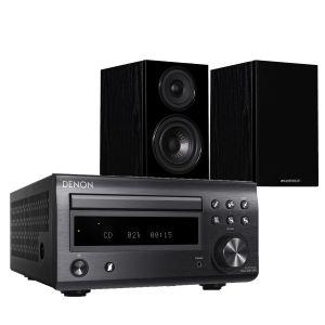 Denon D-M41DAB Hi-Fi System with Wharfedale Diamond 12.0 Bookshelf Speakers