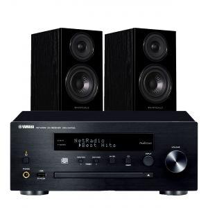 Yamaha CRX-N470D with Wharfedale Diamond 12.1 Bookshelf Speakers