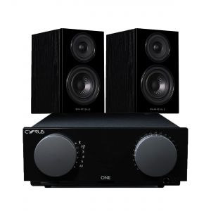 Cyrus One Integrated Amplifier with Wharfedale Diamond 12.1 Bookshelf Speakers