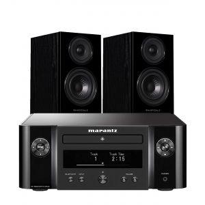 Marantz Melody M-CR412 Music System with Wharfedale Diamond 12.1 Bookshelf Speakers