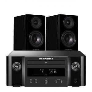 Marantz Melody X. M-CR612 Music System with Wharfedale Diamond 12.1 Bookshelf Speakers