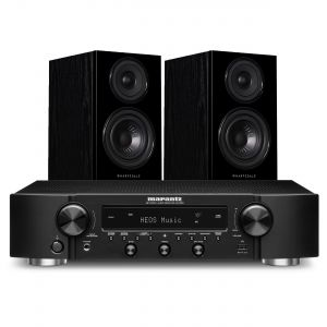 Marantz NR1200 Stereo Network Receiver with Wharfedale Diamond 12.1 Bookshelf Speakers