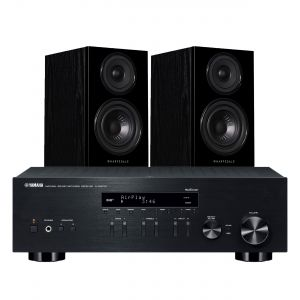 Yamaha R-N303D Hi-Fi Receiver with Wharfedale Diamond 12.1 Bookshelf Speakers