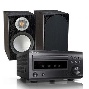 Denon D-M41DAB Hi-Fi System with Monitor Audio Silver 100 Bookshelf Speakers
