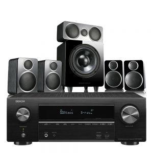 Denon AVR-X1600H DAB AV Receiver with Wharfedale DX-2 5.1 Speaker Package