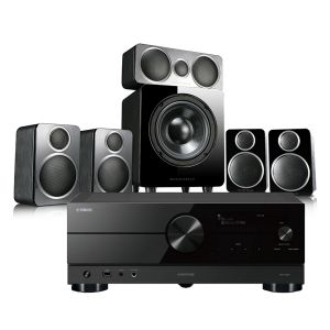 Yamaha RX-A2A AV Receiver with Wharfedale DX-2 5.1 Speaker Package