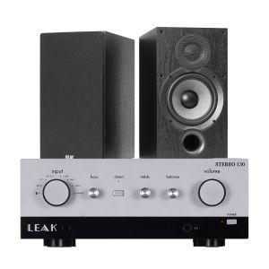LEAK Stereo 130 Integrated Amplifier with Elac Debut B6.2 Bookshelf Speakers