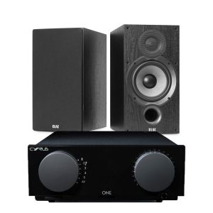 Cyrus One Integrated Amplifier with Elac Debut B6.2 Bookshelf Speakers