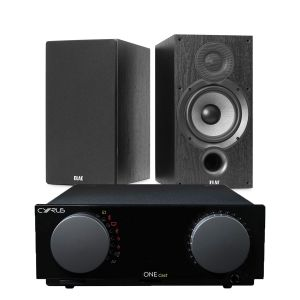 Cyrus One Cast Amplifier with Elac Debut B6.2 Bookshelf Speakers