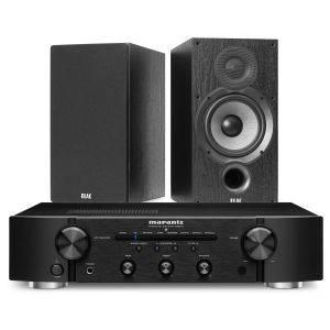 Marantz PM6007 Integrated Amplifier with Elac Debut B6.2 Bookshelf Speakers