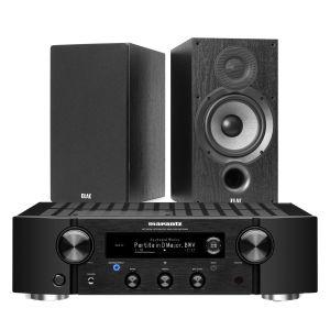 Marantz PM7000N Integrated Stereo Amplifier with Elac Debut B6.2 Bookshelf Speakers