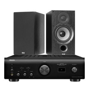 Denon PMA-1600NE Integrated Amplifier with Elac Debut B6.2 Bookshelf Speakers